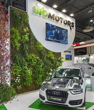 Réalisation du stand BioMotors pour le salon de l'automobile