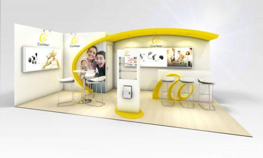 Réalisation, conception et agencement de votre stand sur mesure pour vos salons sur Montpellier, Paris, Rennes, Strasbourd et Lyon.